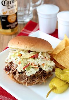 Apple Cider and Brown Sugar Pulled Pork Barbecue