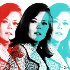 Triple #EmmaPeel - #TheAvengers Graphic #PopArt  of #MrsPeel   @ARTandhue http://artandhue.com/shop/triple-emma/