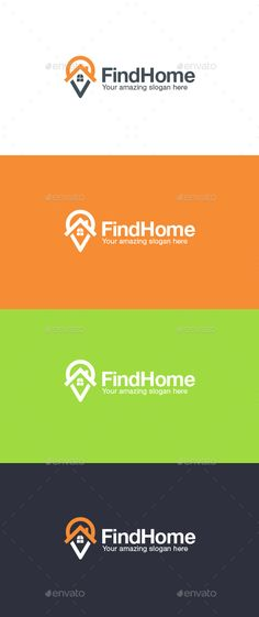 Home Finder Logo Template — Vector EPS #pin #record • Available here → https://graphicriver.net/item/home-finder-logo-template/14908990?ref=pxcr