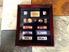Official NBC (USA TV NETWORK) Set of 13 OLYMPIC PINS~1988 SEOUL, KOREA~ Including: Cycling, Weightlifting, Basketball, Volleyball, Diving, Track & Field & more, mounted & framed+custom NBC plaque (a few small scratches) & sold as shown.  Frame nice but not mint. Still very good & has plexiglass for safety. Pins excellent condition! Displays great! A great deal at $79.95~in Showcase 113, Brass Armadillo Antique Mall, Grain Valley, MO. Shipping is available for an additional fee.  (816)…