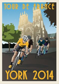 TOUR DE FRANCE 2014 Souvenir Digital Print The by beardybrynstuff, £10.00