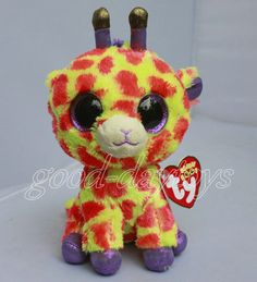 "NEW by Ty BEANIES BOOS ~Darci Giraffe orange 6"" STUFFED Doll Plush doll toy #Ty"