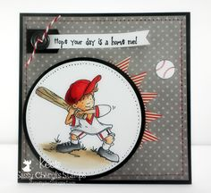 Image is Home Run Hitter from Squigglefly.  Card by Kecia Waters.