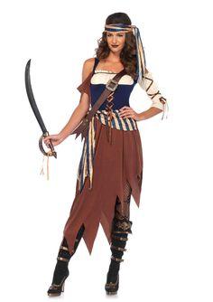 New Leg Avenue 85621 Caribbean Castaway Female Halloween Costume  #LegAvenue