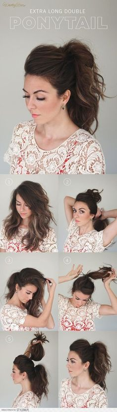 Step by step Hairstyle Easy Hairstyles : http://amzn.to/1ppRbNr dont forget like, pin it and share #easy #hairstyles thanks.