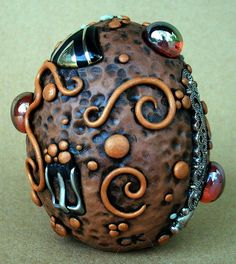 Steampunk Dragon Egg  by MandarinMoon, via Flickr