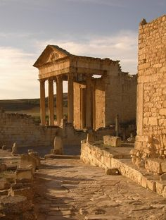 Capitoline Temple in Dougga, Tunisia.