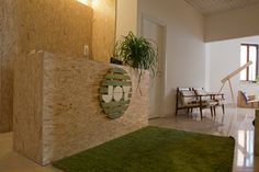 Joy by Reverse - #ecodesign # osb - minimal and functional solution for a cultural association