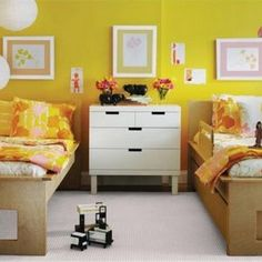 Pink and yellow bedroom ideas yellow room ideas yellow bedrooms 9 source pink yellow girl room . Kids Sheet Sets, Kids Sheets, Modern Girls Rooms, Modern Bedroom, Kids Rooms, Toddler Rooms, Boy Rooms, Toddler Bed, Girl Room
