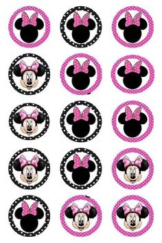 New cupcakes fondant birthday bow tutorial Ideas Bottle Cap Jewelry, Bottle Cap Art, Bottle Cap Crafts, Bottle Cap Images, Minnie Mouse Cupcake Toppers, Minnie Mouse Theme, Minnie Mouse Images, Creation Bougie, Mickey Mouse Birthday