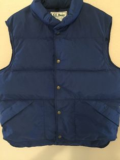 Vintage L L Bean 100 GOOSE Down Vest Men's Puffer Winter Jacket USA Made Large | eBay