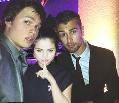 Ansel Elgort, Theo James and Selena