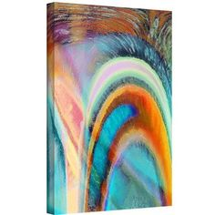 Dean Uhlinger Prisim Surge Gallery-Wrapped Canvas, Size: 24 x 32, Brown
