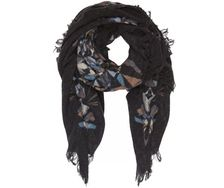 Scarf - Crystal Clear Mind Black - 100% washed wool - by Bella Ballou