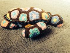 African flower turtle using Heidi bears pattern