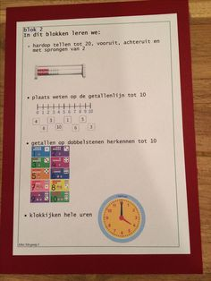 Blok 2, Alles Telt nieuwste versie, groep 3, doelenkaart per blok, om de leerdoelen voor de leerlingen, de ouders en jezelf inzichtelijk te maken. Ik kan je het bestand mailen in pdf, stuur je een mailtje aan: jufhesterindeklas@gmail.com? Dan stuur ik de gevraagde bestanden toe. Achtergrond is gekleurd karton 270 grams.
