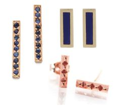 THE WIFE™ Guide: Gold Bar Stud Earrings