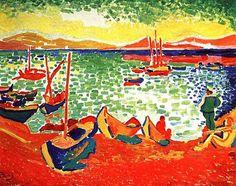 Andre Derain - Boats at Collioure's Harbor (by irinaraquel)