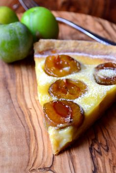 Greengage Tart | It seems we have 7 greengage trees in the garden, better start putting some ideas together!