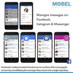 Facebook is making it easier for businesses to use three of its most popular services by consolidating the messages they receive