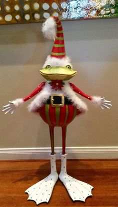 KRINKLES Patience Brewster LARGE Mr. Frog ~ 3 Feet Tall~ RARE