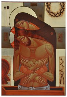 Russian Icon entitled: O Mother, Do Not Weep For Me by Lyuba Yatskiv