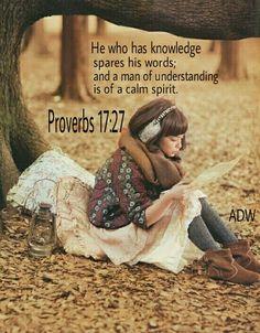 Proverbs 17:27