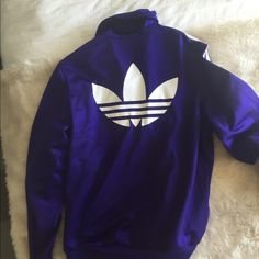 Purple ADIDAS jacket size small Purple ADIDAS jacket! Super comfy! I bought it and it's too hot in Arizona to wear it now! Adidas Jackets & Coats
