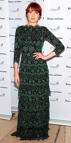 Florence Welch wore Tadashi Shoji at the MSN presents afterparty in Las Vegas.