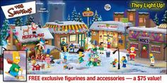 The Simpsons Christmas Village