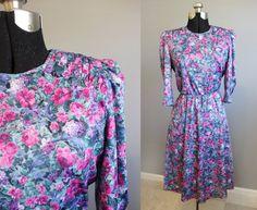 Floral Dress 80s Vintage Tea Party Garden by InTheHammockVintage, $20.00