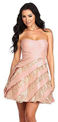 ShopStyle: Hailey by Adrianna Papell Strapless Sequin-Tier Party Dress