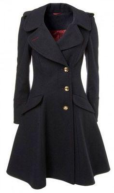 abrigo negro de vestir mujer 2019