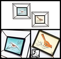 3D Metal Framed Signed Bird Paintings Under Glass MCM Signed   Etsy Work In Africa, Wood Bird, Hand Jewelry, Hallmark Ornaments, Hand Shapes, Vintage Birds, Bird Art, Art Deco Fashion, Three Dimensional
