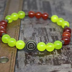 4th  Heart-Chakra Bracelet  Natural  Jade by AgouraDesign on Etsy