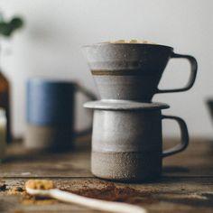 Grey Ceramic Coffee Dripper