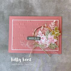 Leaf Cards, Stampin Up Catalog, The Draw, Stamping Up Cards, Cards For Friends, Paper Cards, Creative Cards, Flower Cards, Greeting Cards Handmade