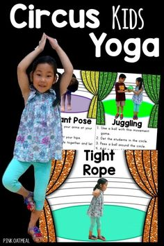 A must for any circus unit. These circus yoga poses/movements are perfect Preschool Circus, Circus Activities, Circus Crafts, Gross Motor Activities, Preschool Activities, Clown Crafts, Summer Crafts For Toddlers, Toddler Crafts, Carnival Themes