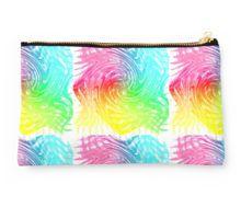 Rainbow Abstract Swirly Wave Crash Pattern Studio Pouch