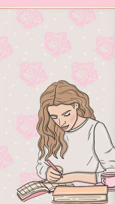Backgrounds Girly, Cute Wallpaper Backgrounds, Girl Wallpaper, Cartoon Wallpaper, Wallpaper Wallpapers, Best Iphone Wallpapers, Pretty Wallpapers, Colorful Drawings, Cute Drawings