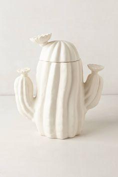 white cactus cookie jar