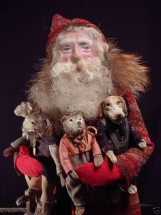 The Pastoral Dollmaker~Christine Crocker: wonderful amazing Jolly Old Santa Norma Decamp