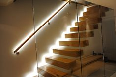Low level LED Lighting.  Link to home automation system; pathway/safety lighting for evening.