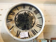 Wall Clock, cool style with exposed mechanicals.