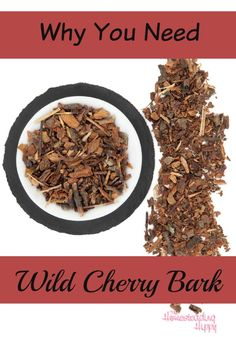 Wild Cherry Bark is a great herb to have for cough syrup