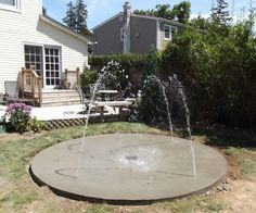 Residential Splash Pad For Your Backyard 12 Nozzle Water