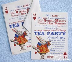Alice in wonderland party invite