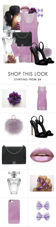 """Out for lunch"" by andersonartstudio on Polyvore featuring Yves Salomon, Giuseppe Zanotti, Chanel, Huda Beauty, Avon and Forever 21"