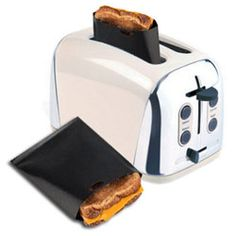 Toastabags  It turns your toaster into a sandwich maker.  The greatest thing since sliced bread, the Toastabag turns your toaster into a sandwich maker. As seen on TV! For a fast, easy lifestyle - perfect for students, teenagers, harassed mums and busy professionals. Toastabags are quick, clean and convenient.