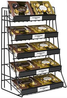 3 Tray Candy Potato Chip Snack Wall Mounted Wire Display